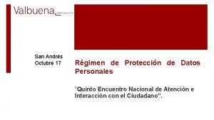 San Andrs Octubre 17 Rgimen de Proteccin de