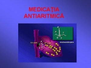 MEDICAIA ANTIARITMIC CLASIFICARE I Blocante ale canalelor de