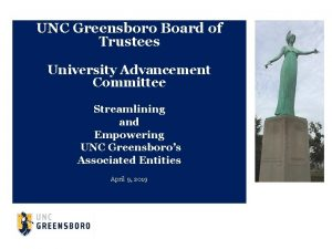 UNC Greensboro Board of Trustees University Advancement Committee