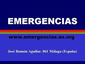 EMERGENCIAS www emergencias es org Jos Ramn Aguilar