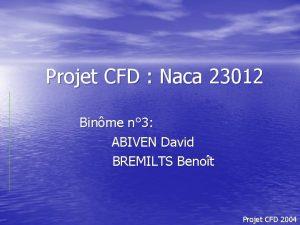 Projet CFD Naca 23012 Binme n 3 ABIVEN