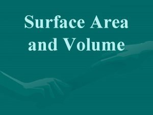 Surface Area and Volume Day 1 Surface Area