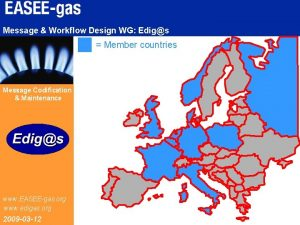 Message Workflow Design WG Edigs Member countries Message