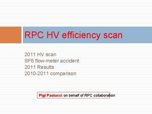 RPC HV efficiency scan 2011 HV scan SF