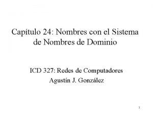 Captulo 24 Nombres con el Sistema de Nombres