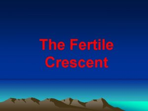 The Fertile Crescent Preview What country is this