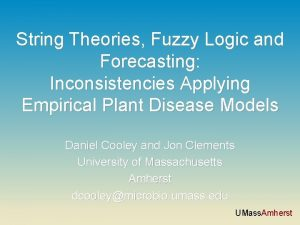 String Theories Fuzzy Logic and Forecasting Inconsistencies Applying