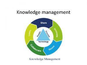 Knowledge management Knowledge Management is the process of