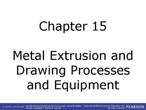 Chapter 15 Metal Extrusion and Drawing Processes and