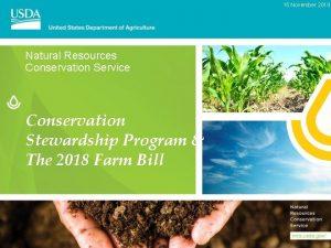 15 November 2019 Natural Resources Conservation Service Conservation