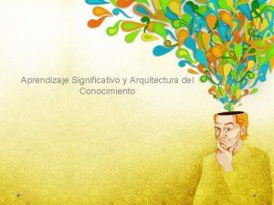 Aprendizaje Significativo y Arquitectura del Conocimiento 1 Tipos