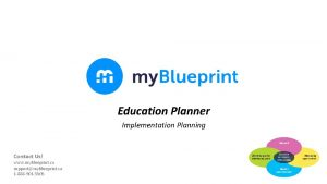 Education Planner Implementation Planning Contact Us www my