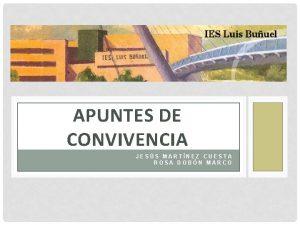 APUNTES DE CONVIVENCIA JESS MARTNEZ CUESTA ROSA DOBN
