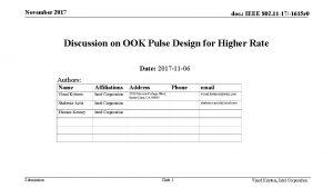 November 2017 doc IEEE 802 11 171615 r