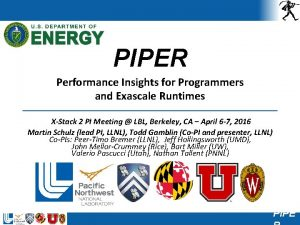 PIPER Performance Insights for Programmers and Exascale Runtimes