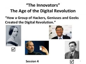 The Innovators The Age of the Digital Revolution
