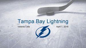 Tampa Bay Lightning Victoria Cela April 7 2016