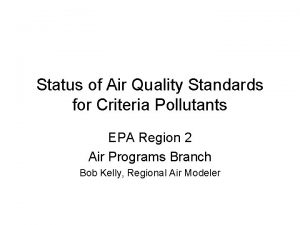 Status of Air Quality Standards for Criteria Pollutants