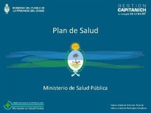 Plan de Salud Ministerio de Salud Pblica Un