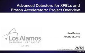 Advanced Detectors for XFELs and Proton Accelerators Project