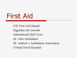 First Aid DK First Aid Manual Egyptian red