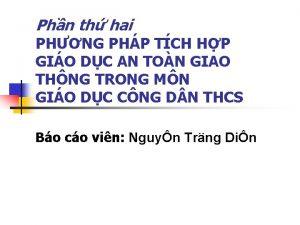 Phn th hai PHNG PHP TCH HP GIO