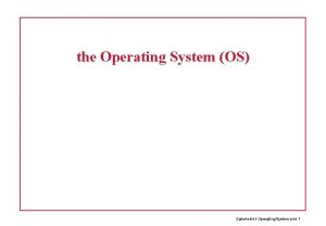 the Operating System OS Datorteknik Operating System bild