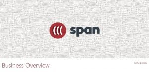 Business Overview www span eu Content Business Overview