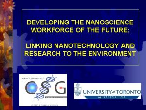 DEVELOPING THE NANOSCIENCE WORKFORCE OF THE FUTURE LINKING