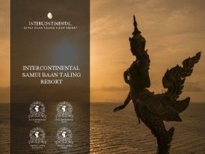 INTERCONTINENTAL SAMUI BAAN TALING RESORT WELCOME TO INTERCONTINENTAL