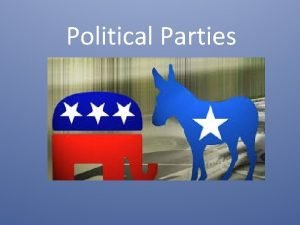 Political Parties What is a political party Political