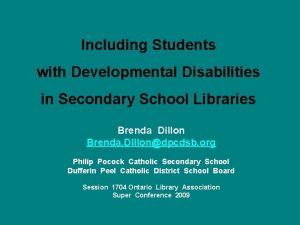 Including Students with Developmental Disabilities in Secondary School