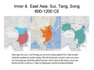 Inner East Asia Sui Tang Song 600 1200