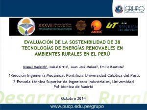 EVALUACIN DE LA SOSTENIBILIDAD DE 38 TECNOLOGAS DE
