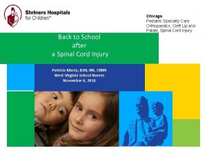 Back to School after a Spinal Cord Injury