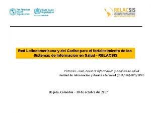 Red Latinoamericana y del Caribe para el fortalecimiento