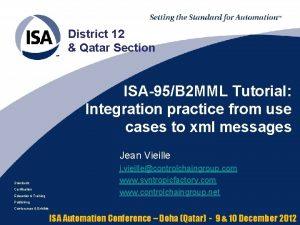 District 12 Qatar Section ISA95B 2 MML Tutorial