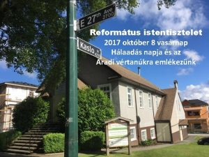 Reformtus istentisztelet 2017 oktber 8 vasrnap Hlaads napja