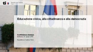 Educazione civica alla cittadinanza e alla democrazia Conferenza