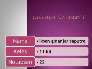 Nama Iksan ginanjar saputra Kelas 11 EB No