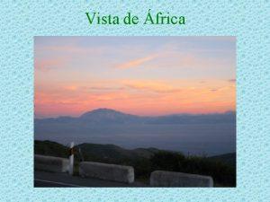 Vista de frica SITUACIN GEOGRFICA Vista de Bolonia