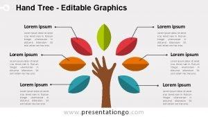 Hand Tree Editable Graphics Lorem ipsum Lorem ipsum