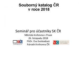 Souborn katalog R v roce 2018 Semin pro
