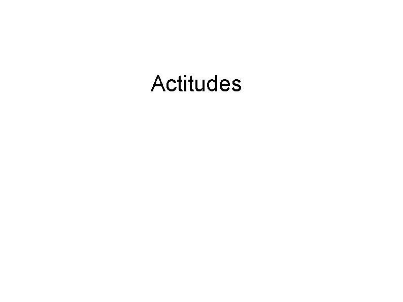 Actitudes Actitudes El concepto de actitud es el