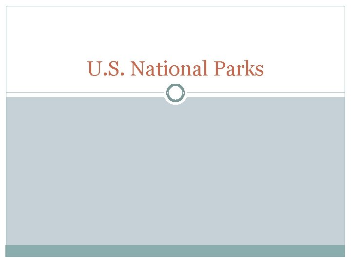 U S National Parks FACTS 392 national parks