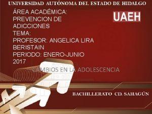 REA ACADMICA PREVENCION DE ADICCIONES TEMA PROFESOR ANGELICA