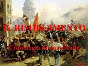 IL RISORGIMENTO Cronologia di una rivolta Michela Zucca