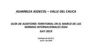 ASAMBLEA ASDECOL VALLE DEL CAUCA GUA DE AUDITORA