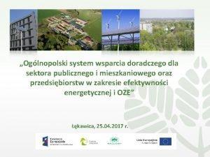 Oglnopolski system wsparcia doradczego dla sektora publicznego i