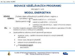 doc Ing Ladislav VILIMEC 1 INOVACE VZDLVACCH PROGRAM